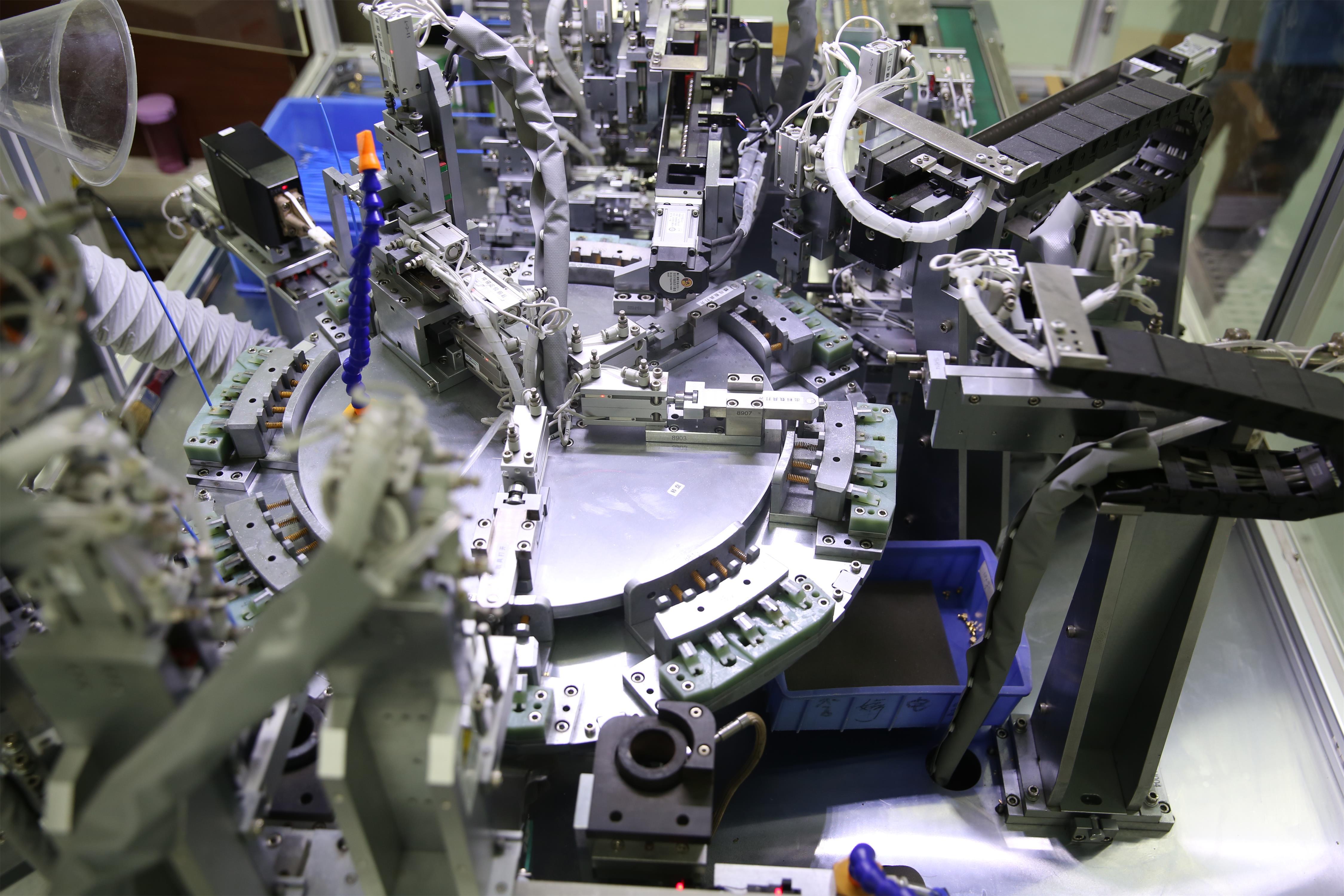 1华达股份公司5G用高性能板间连接器自动化生产线