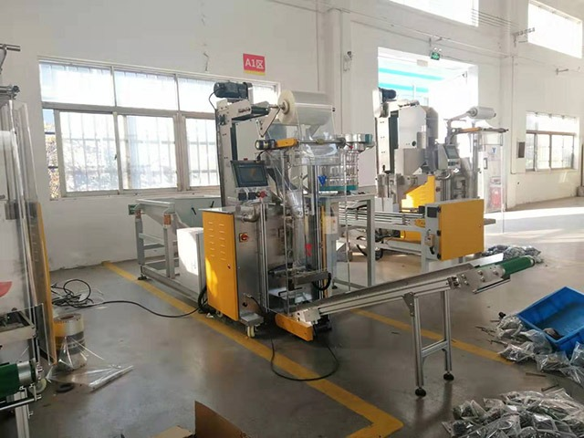 Customized plastic bag nails package machine