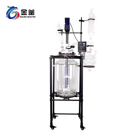 100L四氟框架双层玻璃反应釜