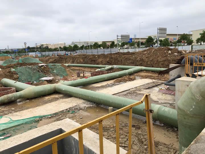 南宁朝阳溪污水处理项目玻璃钢通风管