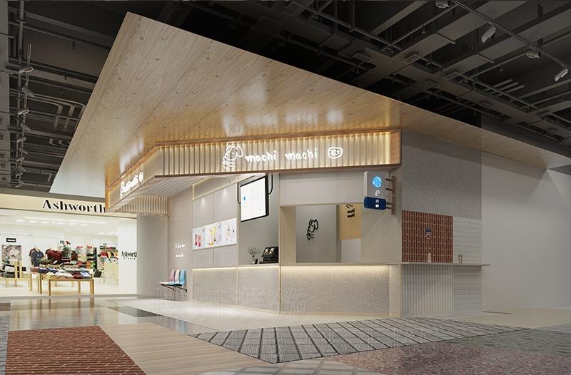 杭州麦吉奶茶店装修设计