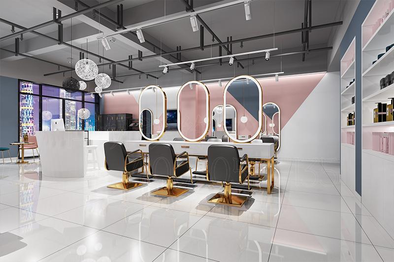 杭州理发店装修设计案例 - 效果图
