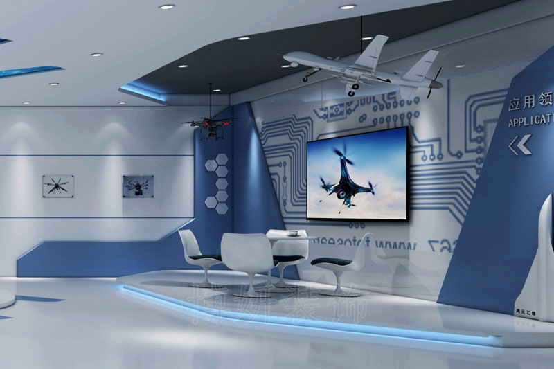 杭州科技公司办公室展厅装修案例