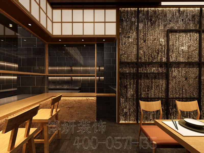 杭州纯日式料理餐厅设计装修-专业日式料理效果案例
