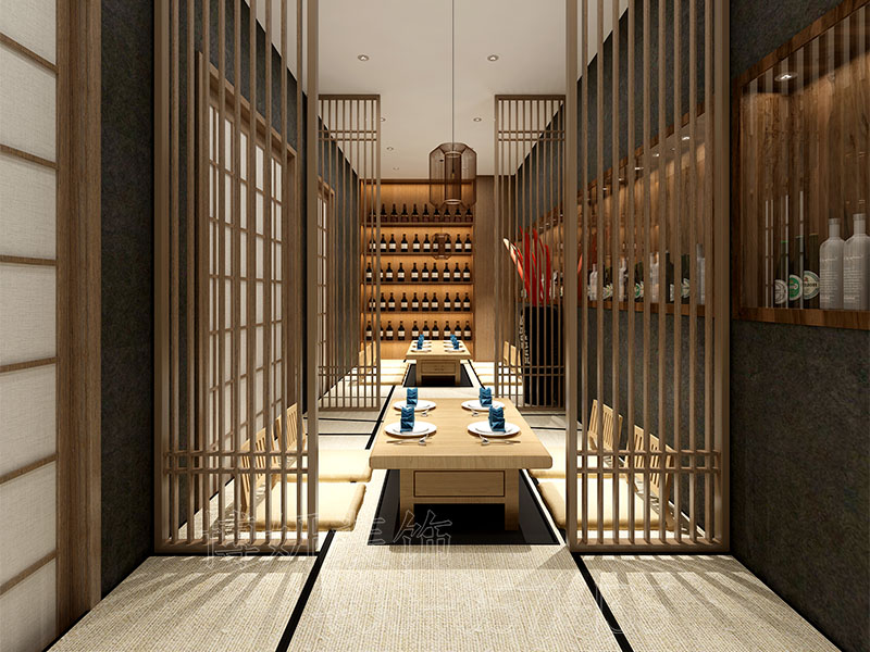 杭州火车东站附近日料店装修设计-精品餐厅装修案例