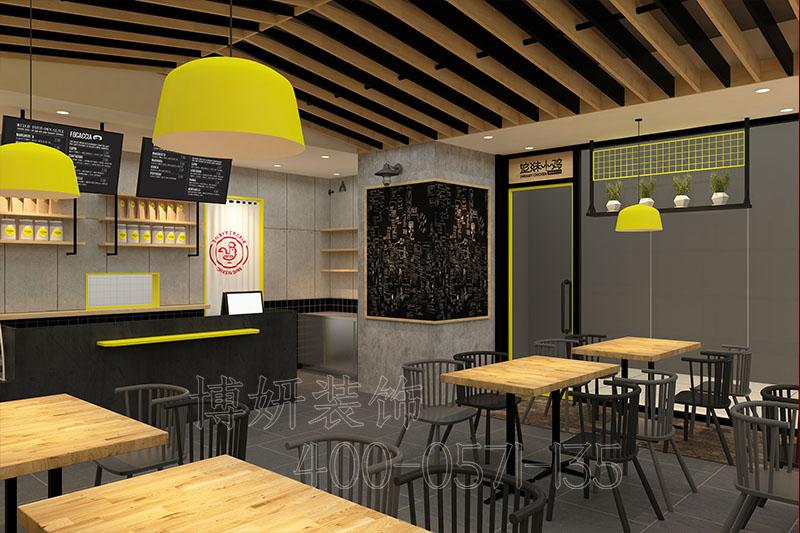 杭州炸鸡店装修设计