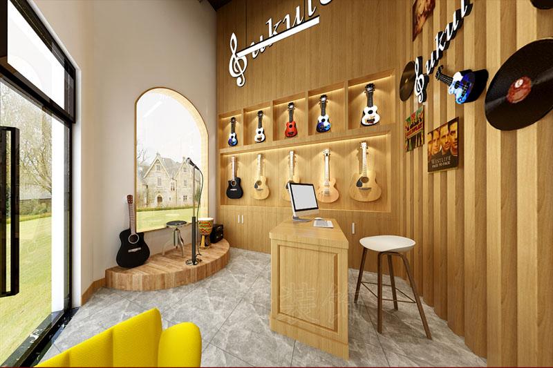 杭州琴行乐器展厅装修设计案例