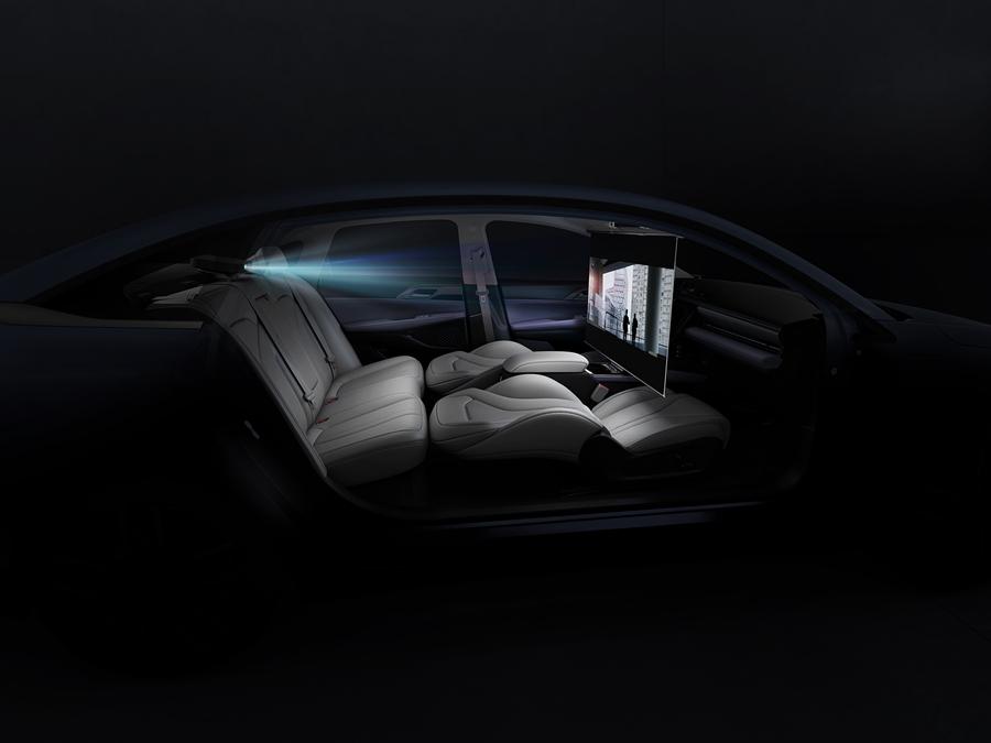 图7:小鹏汽车智能生态空间-车内投影仪