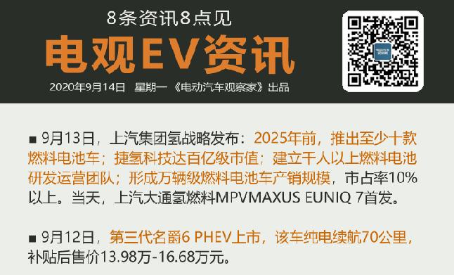 9月14日:盛腾汽车注册成立、大通MAXUS EUNIQ 7首发、特斯拉中国回应...