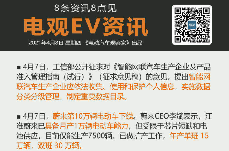 4月8日:华为小康合作、比亚迪4款电动车上市、朱江否认加入滴滴造车