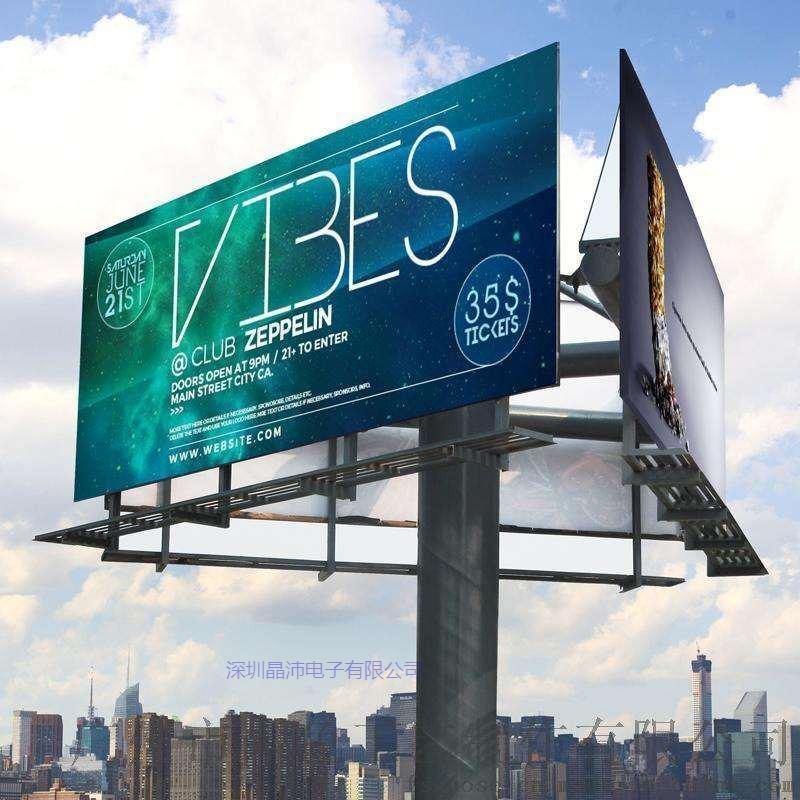 晶沛大过孔以太网滑环在户外大型旋转广告牌上的应用