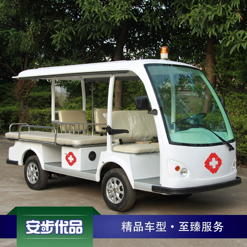 标准型4座+1床电动医疗转运车