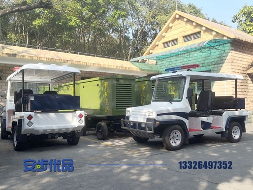 广州某公园定制的越野款电动巡逻车