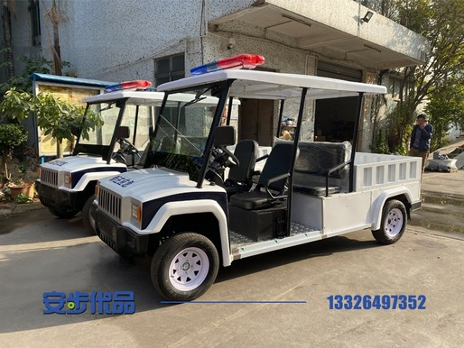东莞某街道定制的五座带货斗悍马电动巡逻车