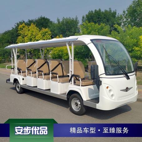 新款17座注塑车身电动观光车