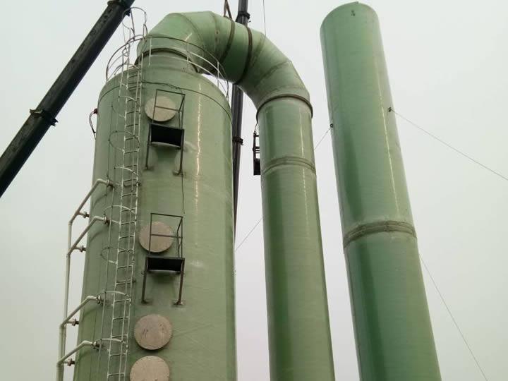 广西贵港市史丹利玻璃钢吸收塔