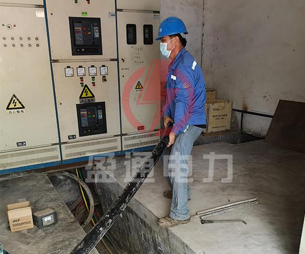 电缆敷设安装施工中