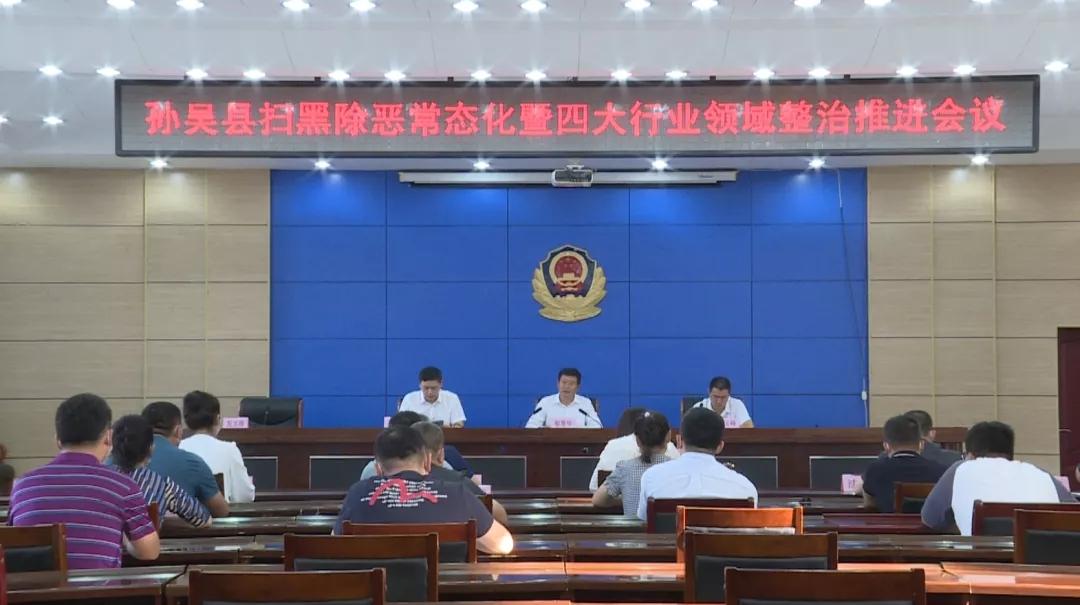 孙吴县召开扫黑除恶常态化暨四大行业领域整治推进会议