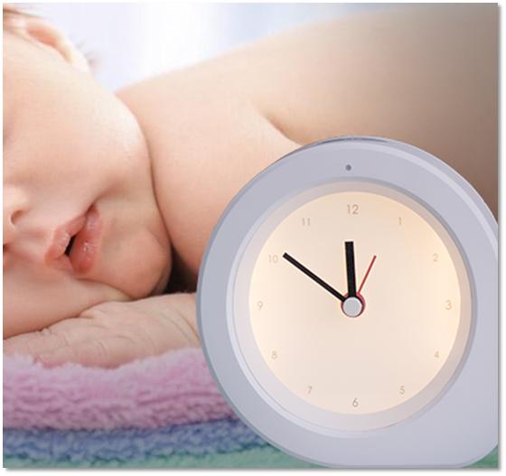 Q型母婴闹钟夜灯