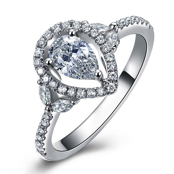 老福黄金 钻石戒指2
