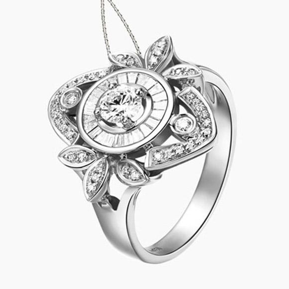 老福黄金 钻石戒指8