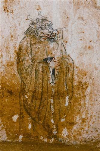 晚唐古墓壁画