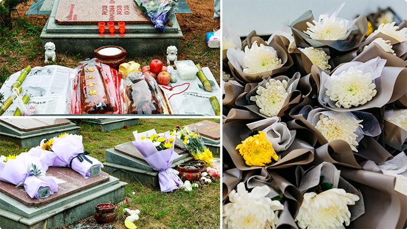 3供品、鲜花拜祭,万朵鲜花每户一支免费提供800