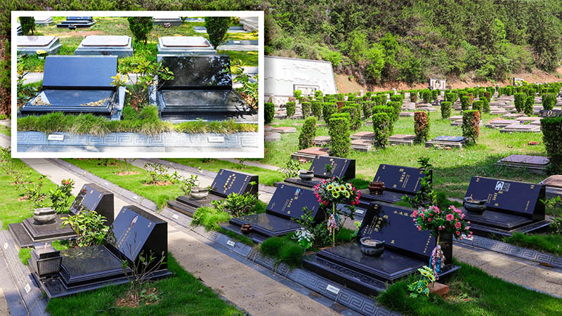 宝福一区新墓碑与两款成品墓样碑800