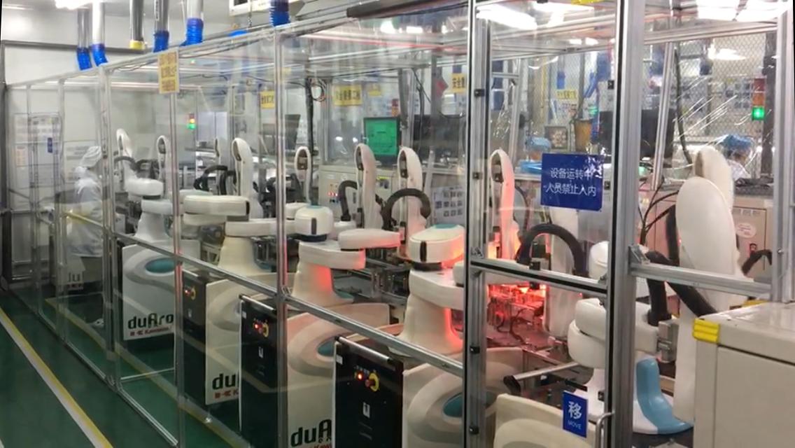 双臂协作机器人生产线