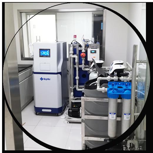 万科建筑研究中心农产品与食品检测实验室安装乐枫纯水机 Super-Genie