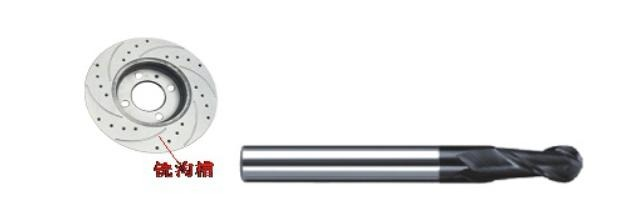 硕朔牌针对汽车刹车盘合金铣削刀具具有高刚性的结构{{设计 span,p sr}},能有效减少刀具振动;周刃与球刃实现无缝连接,合理的球刃中心设计,极大的提高刀具及加工工件表面光洁度;