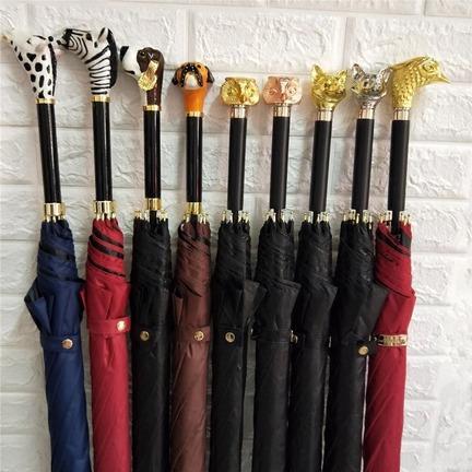 金属动物伞柄来图来样定制设计、走秀伞权杖伞