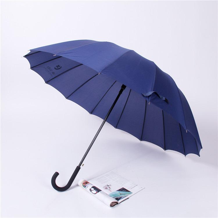 广告伞定制16骨自动商务晴雨伞、24骨直杆商务广告遮阳伞源头厂家