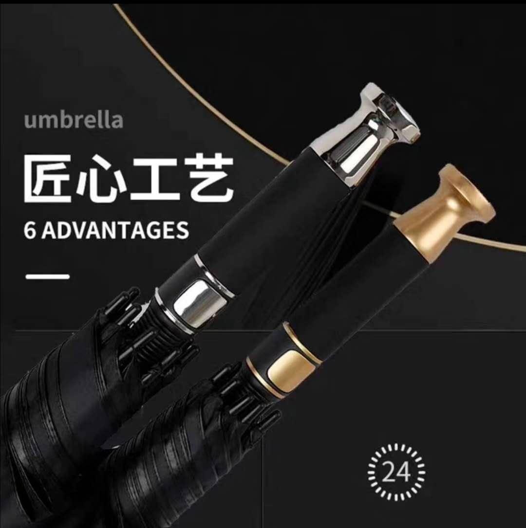 工厂现货高尔夫伞男士商务晴雨伞长柄直杆汽车伞定制厂家