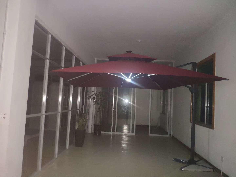 批发别墅餐厅庭院遮阳伞 伞顶可360度旋转上下左右任意转动倾斜