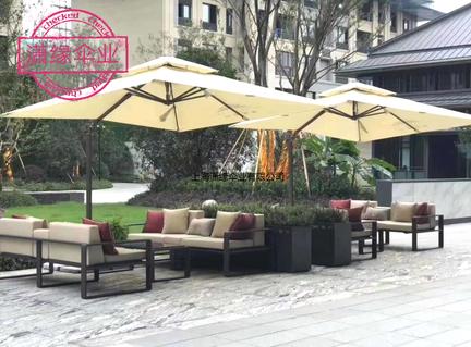 定制罗马伞 户外大伞四方边柱伞香蕉伞庭院伞花园遮阳伞 抗风防雨耐用铝架