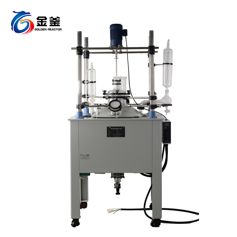 100-200L下放料单层玻璃反应釜