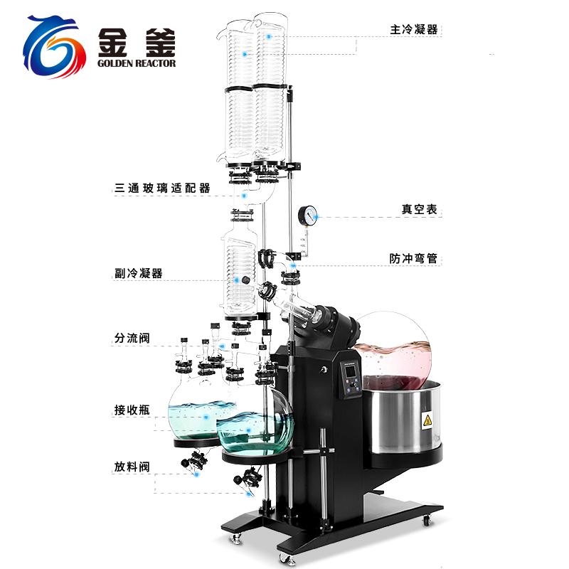 10-50L雙冷雙接收電動旋轉蒸發器RE50-2CC