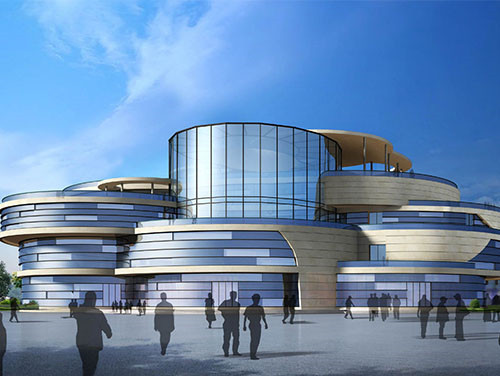 烟台五彩文化广场项目文化中心及艺术中心幕墙设计