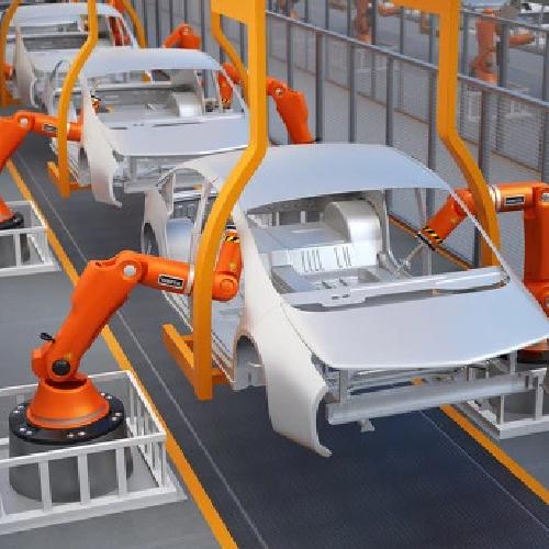 機器人車架焊接