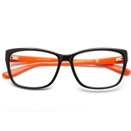 Black十Orange RECTANGLE  Eyeglasses P600074