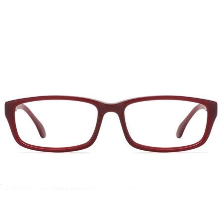 深红色长方形光学眼镜 P600073