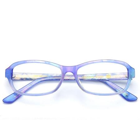 蓝色榄形光学眼镜 P600085