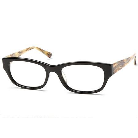 黑色+玳瑁方形光学眼镜 P600084