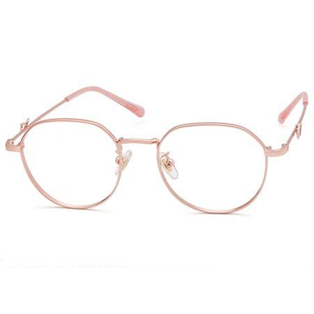 玫金圆形光学眼镜 P60003