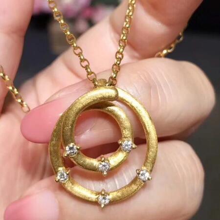 创意圈形钻石项链 ASE003