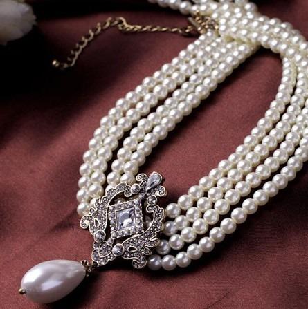 仿珍珠项链 AQN002