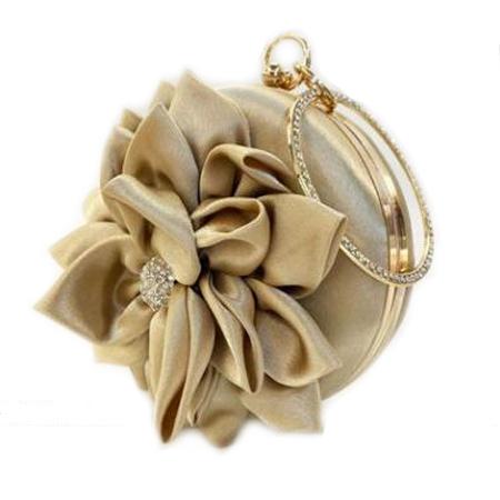 丝绸花朵名媛手拿包P012