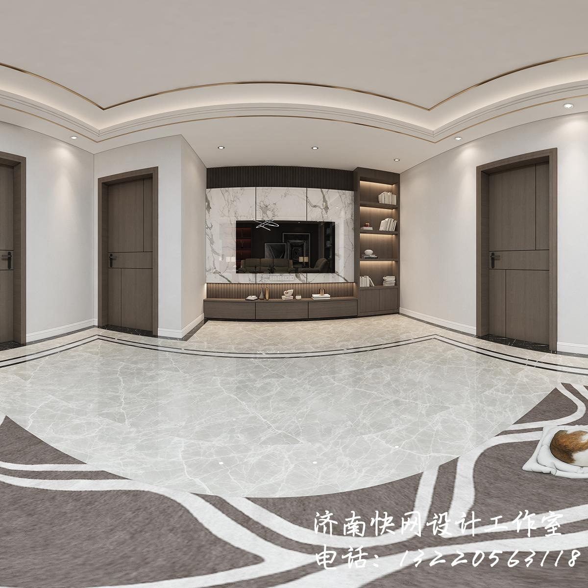 简奢风格客厅设计全景效果图