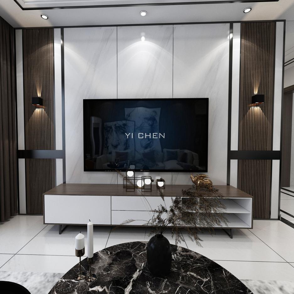 现代家装设计方案全景效果图